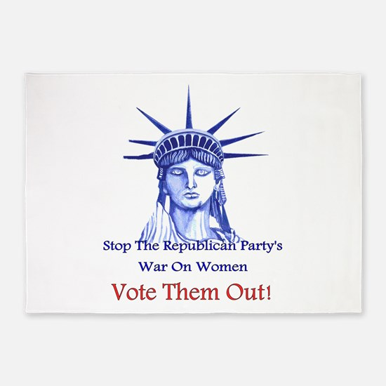 Stop Republicans War On Women 5'x7'Area Rug