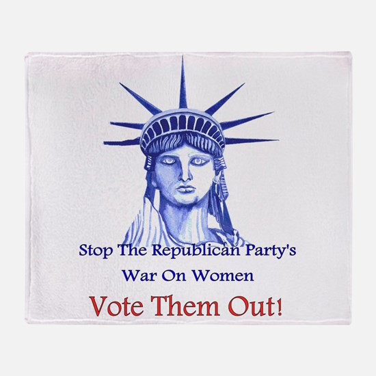 Stop Republicans War On Women Throw Blanket