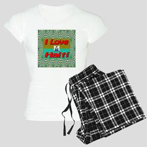 ilove_haiti_red Women's Light Pajamas