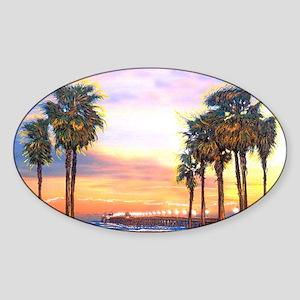 Imperial Beach Peir Lp Sticker (Oval)