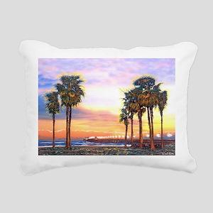 Imperial Beach Peir Lp Rectangular Canvas Pillow