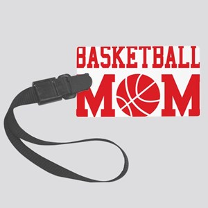 basketball-mom-red Large Luggage Tag