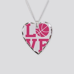 love-basketball Necklace Heart Charm