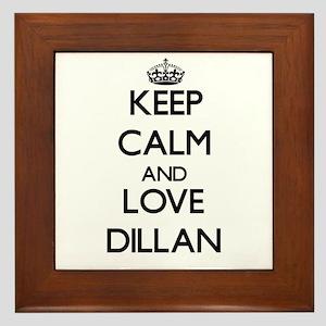 Keep Calm and Love Dillan Framed Tile