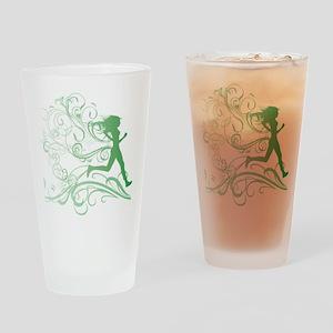 green_runner_girl Drinking Glass