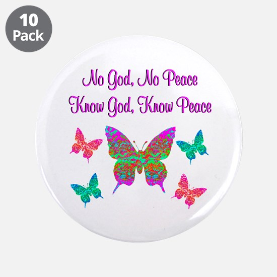 "PRAISE GOD 3.5"" Button (10 pack)"