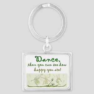 Dance happy design Landscape Keychain