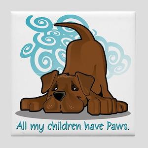 ChildrenPawsChocolate Tile Coaster
