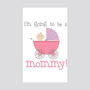 mommy to be (front only) Rectangle Sticker