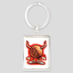 Basketball Devil Tee Portrait Keychain