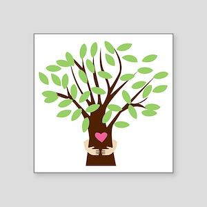"Tree Hugger Square Sticker 3"" x 3"""