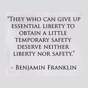 Liberty_Safety_Black Throw Blanket