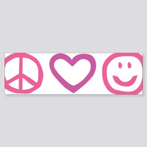 Peace Love Happines... Sticker (Bumper)