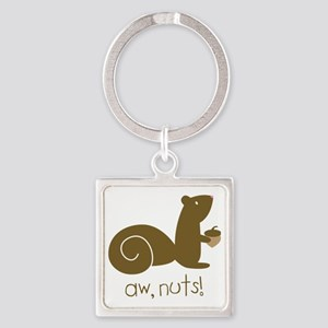 Aw Nuts Squirrel Square Keychain