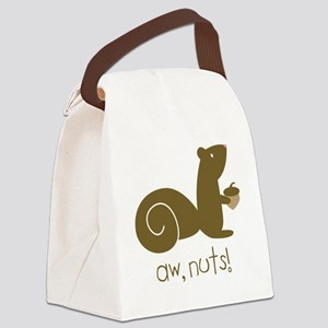 Aw Nuts Squirrel Canvas Lunch Bag