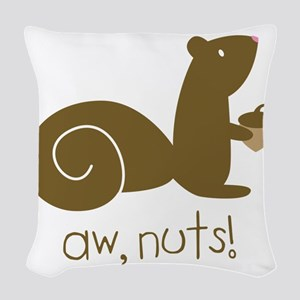 Aw Nuts Squirrel Woven Throw Pillow
