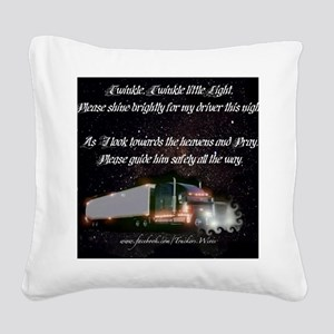 2-twinkletwinkly Square Canvas Pillow