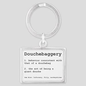 Douchebaggery Landscape Keychain