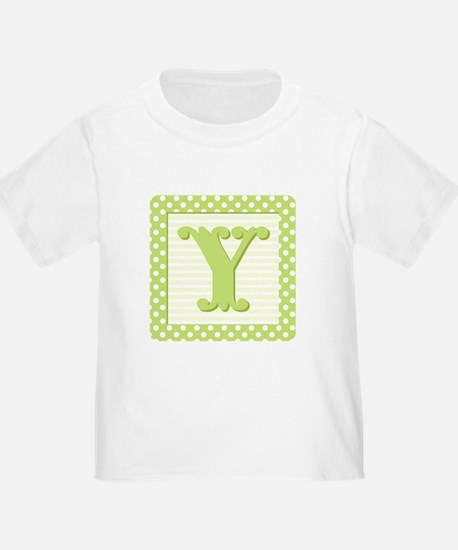 Baby Block Letter Y T-Shirt
