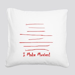 Moviemaker-Tm Square Canvas Pillow