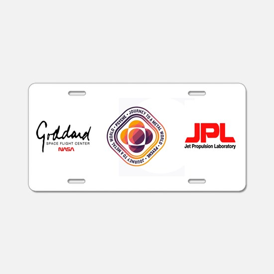 Psyche Mission Logo Aluminum License Plate