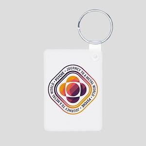 Psyche Mission Logo Aluminum Photo Keychain