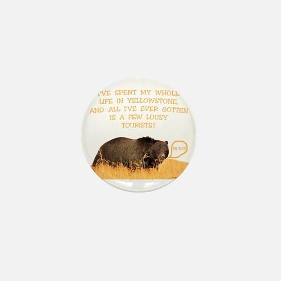 Yellowstone griz b Mini Button