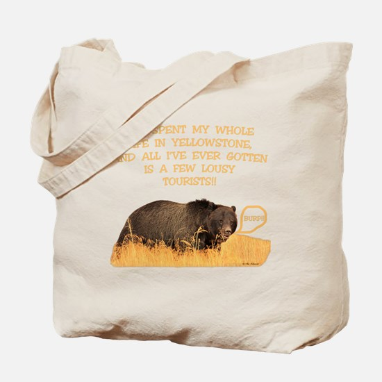 Yellowstone griz b Tote Bag