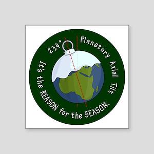 """reason-for-the-season-badge Square Sticker 3"""" x 3"""""""