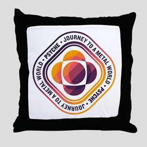 Psyche Mission Logo Throw Pillow