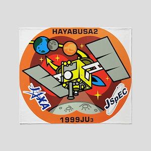 Hayabusa 2 Logo Throw Blanket