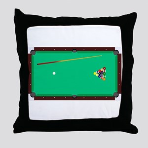 Pool Table Throw Pillow
