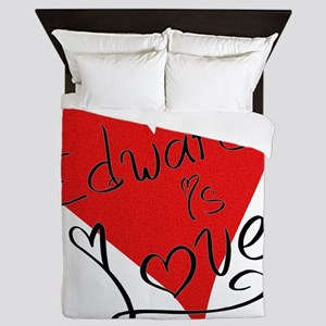 is_love_edward Queen Duvet