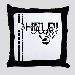 2-D-Lip Help Throw Pillow
