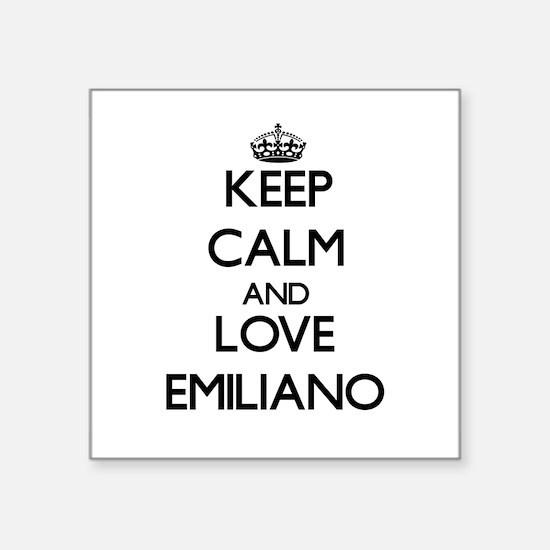 Keep Calm and Love Emiliano Sticker