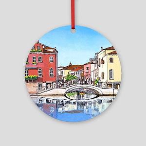 Venice Crossbridge mp Round Ornament