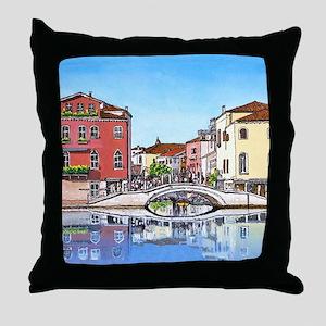 Venice Crossbridge mp Throw Pillow