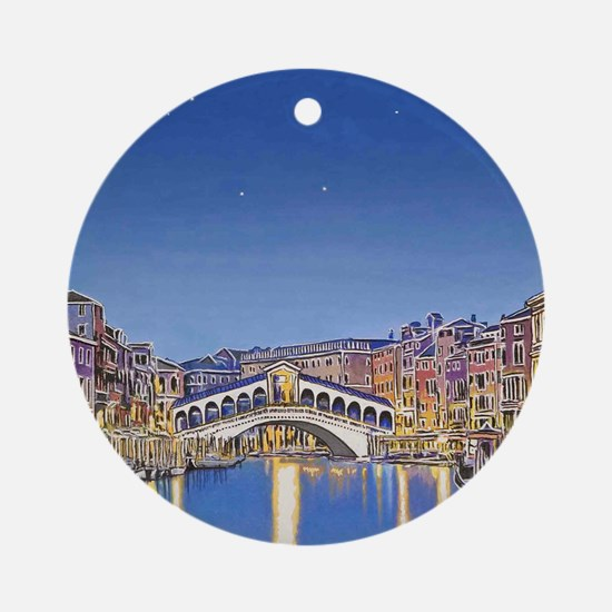 Stars over Venice mp Round Ornament