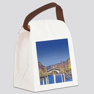 Stars over Venice mp Canvas Lunch Bag