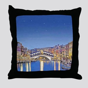 Stars over Venice mp Throw Pillow