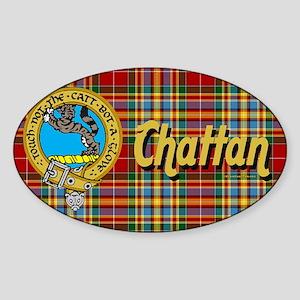 chattan22x15-300 Sticker (Oval)