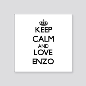 Keep Calm and Love Enzo Sticker