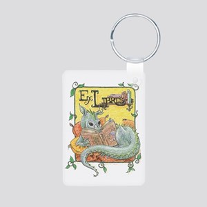 Dragon Reader (ex Libris) Aluminum Photo Keychain