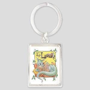Dragon Reader (ex Libris) Portrait Keychain