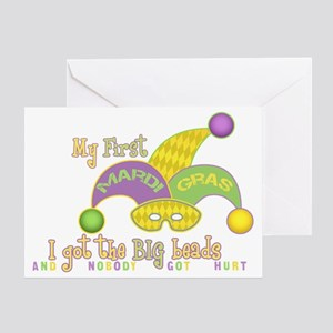 MyFirstBigBeadsRecttr Greeting Card