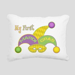 MyFirstBBMardiGras Rectangular Canvas Pillow