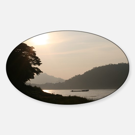 On the Mekong Sticker (Oval)