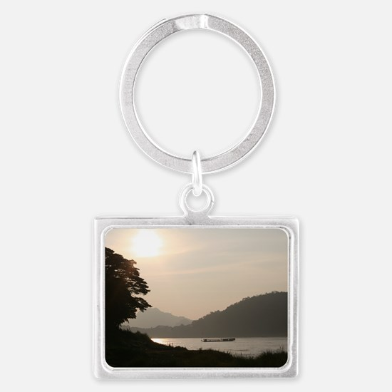On the Mekong Landscape Keychain