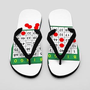Bingo Cards Flip Flops