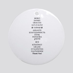 Thank You Ornament (Round)